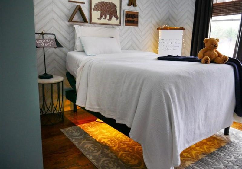 A Tempur-Pedic mattress on a Tempur Adjustable Power Base