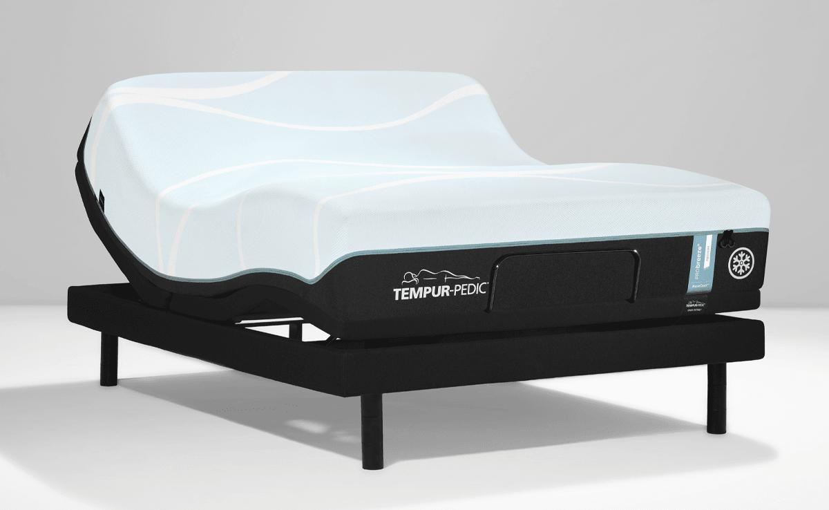 Breeze mattress on an adjustable base