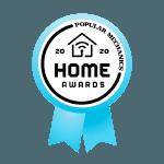"An award ribbon that reads ""Popular Mechanics 2020 Home Awards"""